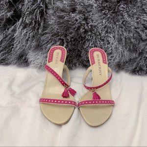 Genuine Burberry Heels with Pink Tassel